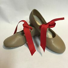 SO DANCA GIRLS TAP SHOES BEIGE TAN SIZE M 1 S MARY JANE STYLE SNAP CLOSURE