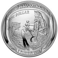 USA 1 Dollar 2019 Apollo 11 - 50. Jubiläum - Gewölbte Prägung 26,73 gr Silber PP