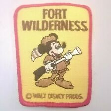 Vintage Disney Fort Wilderness Patch Mickey Mouse Walt Disney Productions