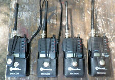 Lot 4 PROCOM MU510 Transciever Radio Walkie Talkie UHF AS IS Holsters Repair