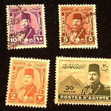 Egypt Postage Stamps, Modern, Used, Unused 4 Pieces