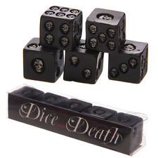 SKULLS   DICE OF  DEATH  SET OF 5