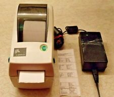 "Zebra LP2824Z Label Thermal Printer, Power Supply, 1 Roll of 1 x 2"" Labels"