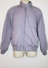 Sears Vintage Jacket Mens Size Medium Blue Gray bomber jacket Full zip (bE)