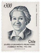 Chile 1995 #1733 50 años otorgamiento premio nobel a Gabriela Mistral MNH