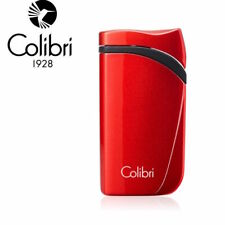 More details for new colibri falcon angled single jet flame lighter - metallic red