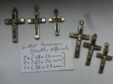 Lot de 6 Ancienne croix  pretre 3 modèles differents anneaux soudés  France 1960