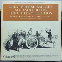 EWAN MACCOLL & A. L. LLOYD english scottish popular ballads vol 9 LP Mint- USA