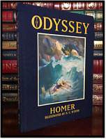 The Odyssey by Homer & Illustrated by N.C. Wyeth New Deluxe Cloth Bound Hardback
