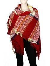 Womens Oversized Tartan Plaid Blanket Scarf Large Checked Wrap Shawl Winter Warm