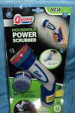 Quickie Household Power Scrubber Handheld Battery Powered Scrub Brush, Brand New