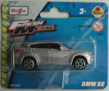 Maisto BMW X6 silbermetallic Neu/OVP E71 SUV Crossover Auto Car Fresh Metal