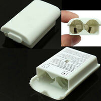 White AA Battery Pack Back Cover Shell Case Kit For Xbox360 Controller NEW