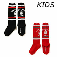 A BATHING APE Goods BAPE KIDS COLLEGE LONG SOCKS 2colors Japan new
