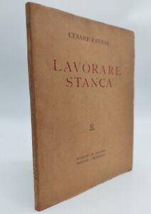 Pavese, Lavorare stanca, Solaria, 1936, Prima edizione