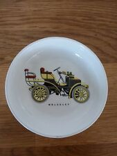 1950s/1960s dish with an image of a WOLSELEY veteran car from BASILDON GARAGE