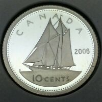 2006 Proof Canada 10 Ten Cents Dime Canadian Coin Not In Case D736