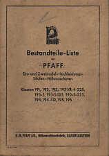 KAISERSLAUTERN, Katalog 1950, Nähmaschinen-Fabrik G. M. Pfaff AG Klassen 191-196