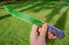 Fabulous Rare Siberian Jade & Charoite Knife, Dagger by Russian Craftman