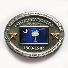 South Carolina State Oval Flag Belt Buckle Gürtelschnalle Boucle de ceinture
