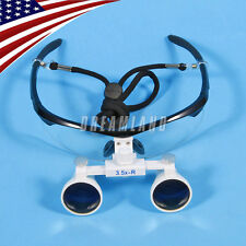 USA Sale Magnifier Dental Surgical 3.5X Binocular Loupes Optical Glasses Black