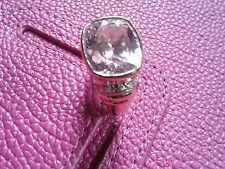 Many-faceted Pink  CZ  Candy  ring - Size 8 - Gold over Sterling Silver  925