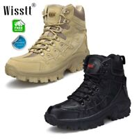 Men's Leather Military Tactical Deployment Boots SWAT Boots Duty Mesh Work Shoes