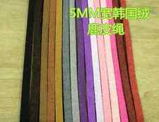 100 meters - Multi Color 5mm  Faux Suede Leather Cord DIY Cord Supplies