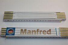 Zollstock mit Namen  MANFRED  Lasergravur 2 Meter Handwerkerqualität