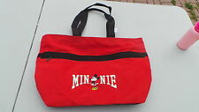 NEW with Tags Minnie Mouse Tote Bag Red with Black Trim