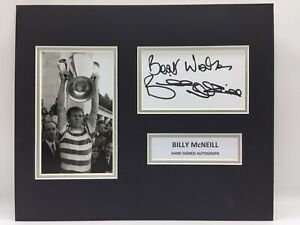 RARE Billy McNeill Celtic Signed Photo Display + COA AUTOGRAPH 1967 LISBON LIONS