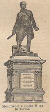 A0490 Monumento a Pietro Micca in Torino - Stampa Antica del 1907 - Xilografia