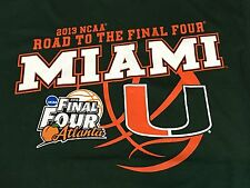 2013 NCAA Road To The Final Four March Madness Miami Hurricanes Green TShirt - M