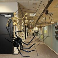 3 Size Giant Spiders Web Cobweb Halloween Decor Haunted House Party Decoration