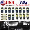 Interior LED Light Kit White Bulbs For Toyota Tundra 2007-2010 + License 18pcs