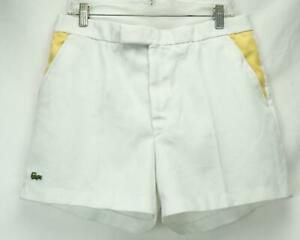 Chemise Lacoste Chino Shorts White/Yellow Men's Waist 32