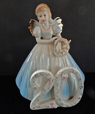 Vintage Josef Originals 20 Year Old Birthday Angel Figurine W/Box & Tag