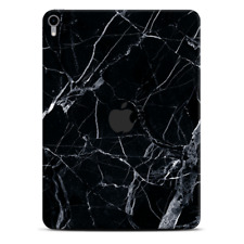 Skins Decal Wrap for Apple iPad Pro 11 2018 Black Marble Granite White