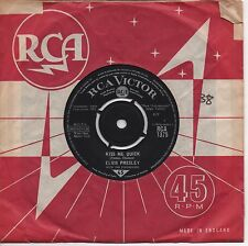 ELVIS PRESLEY kiss me quick*something blue 1962 UK RCA VICTOR 45