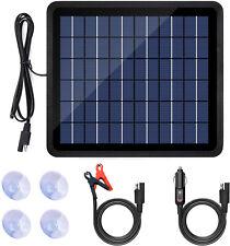 2021 5W Watt Solar Panel Kit 12V Battery Charger Maintainer Marine Boat Rv Car