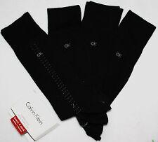 NWT CALVIN KLEIN dress mens socks 4 pairs black