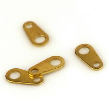 8.5x4mm Small Solid Brass Chain Tag Clasp Connector m100 (40pcs)
