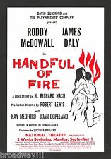 """Roddy McDowall """"HANDFUL OF FIRE"""" Kay Medford / James Daly 1958 FLOP Tryout Flyer"""