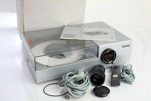 Rollei P37 Diaprojektor mit 85mm, Rundmagazin Fernbedienung Koffer HLX Lampe neu