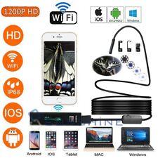 8LED WiFi Endoscope Borescope 8mm Snake Tube Camera 1200P IP68 For Phone Android