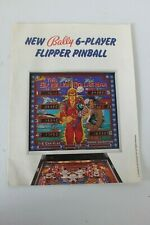 Original Bally Pinball Machine Six Million Dollar Man - Flyer, Ad Sales Brochure