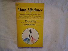 1968 MANY LIFETIMES Denys Kelsey Joan Grant,Paperback 1st printing,reincarnation