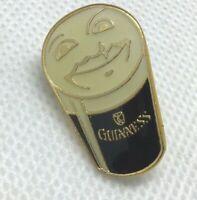 Guinness Beer Can Lapel Pin Vtg Pinback Smiling Face Dark Irish Dry Stout