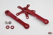ProMX BMX 3 Piece Aluminium Cranks Set Red  - No Chainring