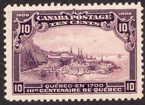Sc 101 -  Canada - 1908 - 10 Cent -  MH VF GEM -  superfleas - cv$200